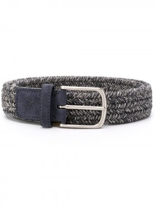Плетеный ремень Canali. Цвет: синий