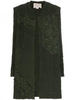 Пальто Miro с вышивкой By Walid. Цвет: зеленый