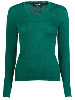 Шерстяной пуловер ROCHAS. Цвет: зеленый