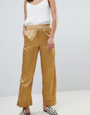 Широкие брюки Sofie Schnoor. Цвет: золотой