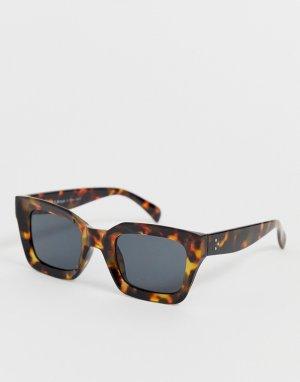 Черепаховые солнцезащитные очки в толстой квадратной оправе AJ Morgan. Цвет: мульти