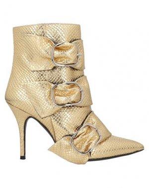 Полусапоги и высокие ботинки ANIYE BY. Цвет: золотистый