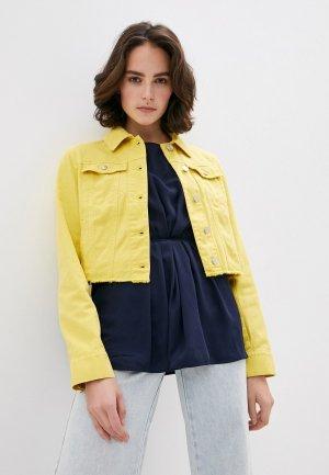 Куртка джинсовая Sportmax Code. Цвет: желтый