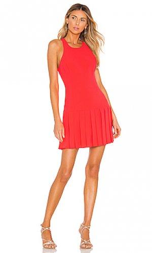 Платье gavin Amanda Uprichard. Цвет: оранжевый