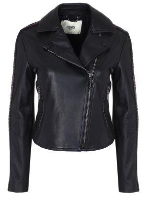 Куртка-косуха кожаная FENDI