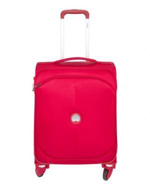 Чемодан/сумка на колесиках DELSEY. Цвет: пурпурный