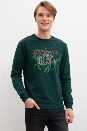 Свитшот U.S. Polo Assn.. Цвет: vr079 темно-зеленый