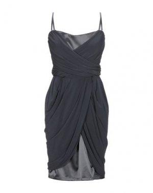 Короткое платье PAOLA FRANI. Цвет: стальной серый