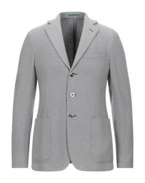 Пиджак PAL ZILERI GREEN LABEL. Цвет: светло-серый