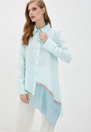 Блуза Adzhedo. Цвет: бирюзовый