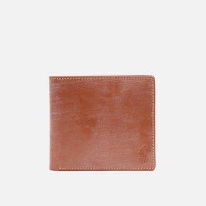 Кошелек Bridle Leather Billfold Small Polo Ralph Lauren. Цвет: коричневый