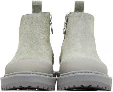 Grey Suede Paderno Boots Diemme. Цвет: grey suede