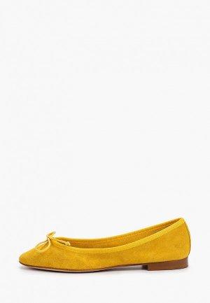 Балетки Pazolini. Цвет: желтый