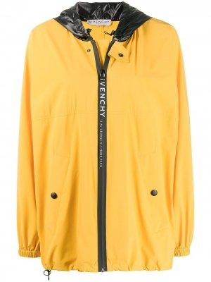 Ветровка оверсайз с логотипом Givenchy. Цвет: желтый