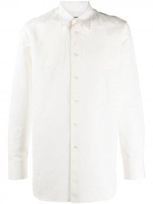 Однотонная рубашка Jil Sander. Цвет: белый
