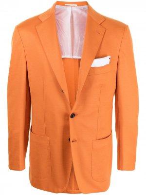 Однобортный пиджак Kiton. Цвет: оранжевый