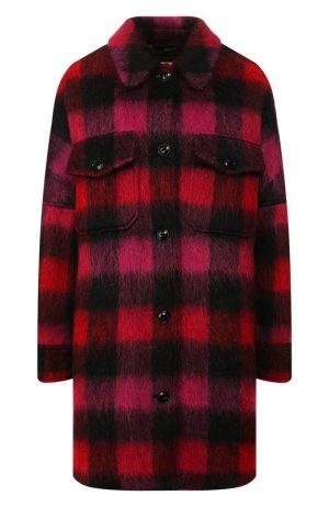 Пальто в клетку Woolrich. Цвет: красный