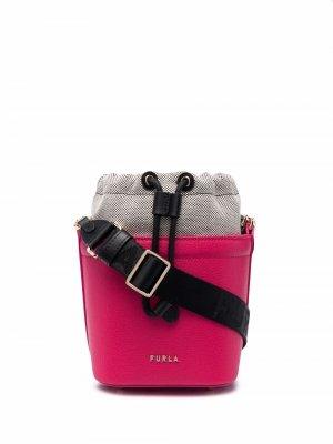 Papaero leather bucket bag Furla. Цвет: розовый