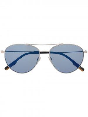 Солнцезащитные очки-авиаторы Ermenegildo Zegna. Цвет: черный