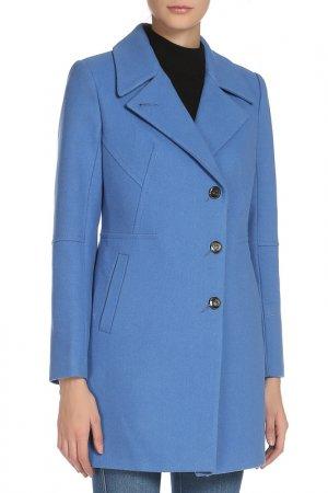 Пальто Анора. Цвет: голубой