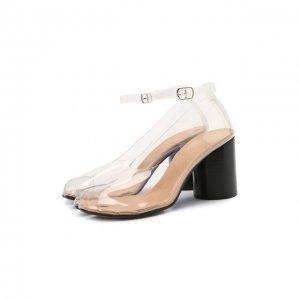 Комбинированные туфли Maison Margiela. Цвет: прозрачный