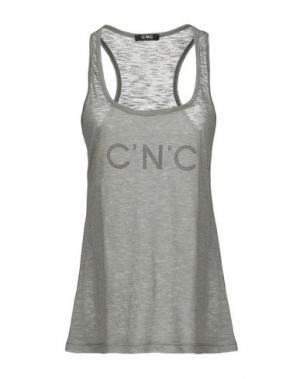 Майка C'N'C' COSTUME NATIONAL. Цвет: серый