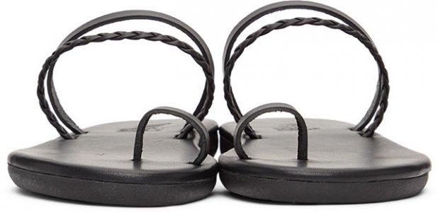 Black Gyalos Sandals Ancient Greek. Цвет: black