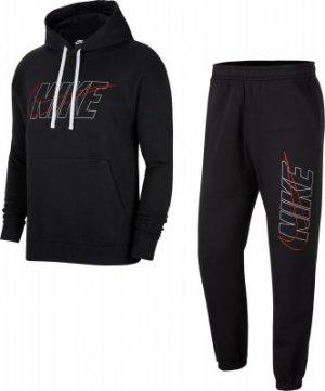 Костюм мужской Sportswear Club, размер 50-52 Nike. Цвет: черный