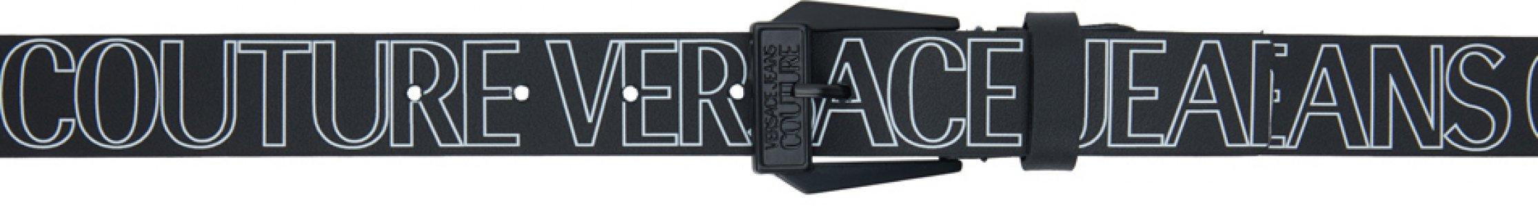 Black Allover Logo Belt Versace Jeans Couture. Цвет: e899 nero