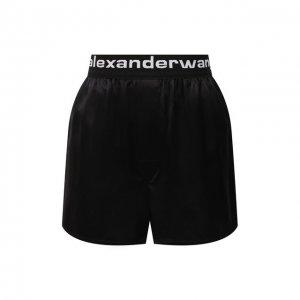 Шелковые шорты alexanderwang.t. Цвет: чёрный