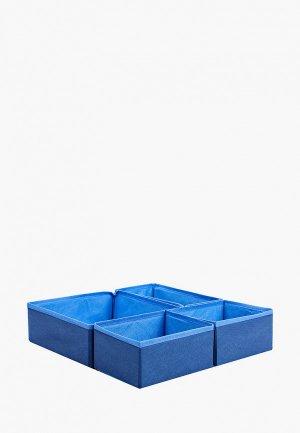 Комплект коробов Tete-a-Tete Набор коробок для хранения вещей 4 шт. Цвет: синий