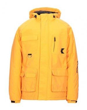 Куртка KARL KANI. Цвет: оранжевый