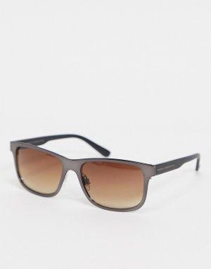 Солнцезащитные очки с квадратными линзами в стиле ретро -Серый French Connection