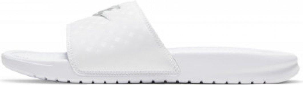 Шлепанцы женские WMNS Benassi JDI, размер 39.5 Nike. Цвет: белый