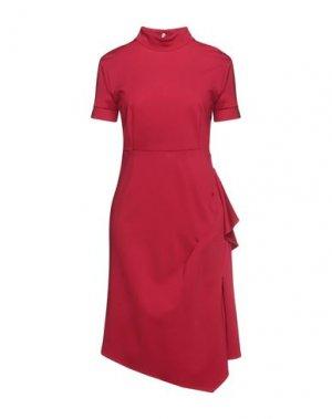 Платье миди BABYLON. Цвет: красный