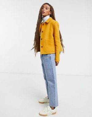 Желтая короткая куртка -Желтый Gloverall