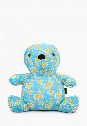 Подушка декоративная Gekoko Ромашковый Мишка. Цвет: голубой