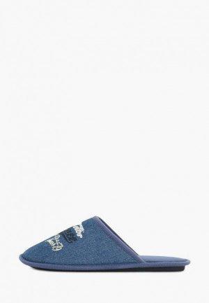 Тапочки T.Taccardi. Цвет: синий
