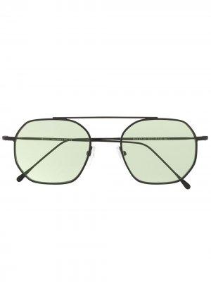 Солнцезащитные очки-авиаторы Eleventy. Цвет: черный