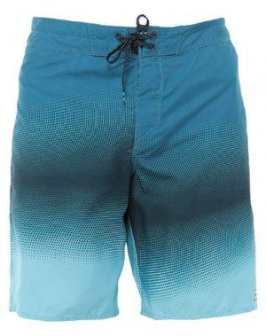 Пляжные брюки и шорты BILLABONG. Цвет: синий