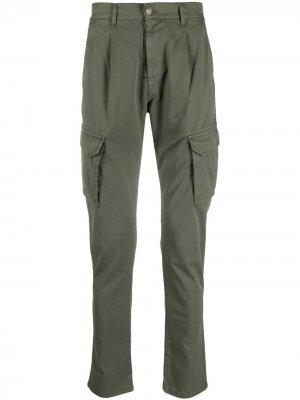 Зауженные брюки карго Daniele Alessandrini. Цвет: зеленый