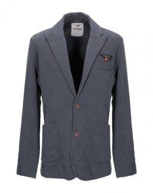 Пиджак AERONAUTICA MILITARE. Цвет: свинцово-серый