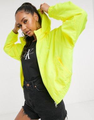 Желтая ветровка с логотипом -Желтый Calvin Klein Jeans