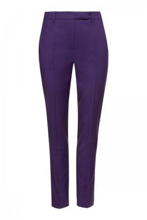 Зауженные брюки из шерсти VASSA&Co. Цвет: фиолетовый