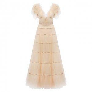 Платье Jenny Packham. Цвет: золотой