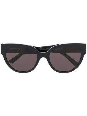 Солнцезащитные очки в оправе кошачий глаз Balenciaga Eyewear. Цвет: черный