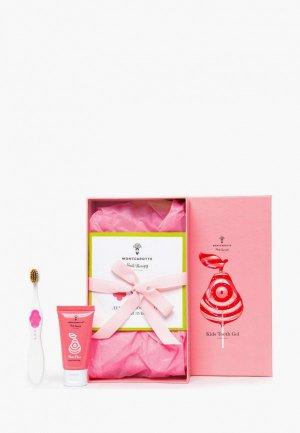 Набор для ухода за полостью рта Montcarotte Pear Kids Present Set (7 предметов) / детский подарочный Розовая груша 0+ предметов), 5 мл * 5; 25 1 гелей. Цвет: разноцветный