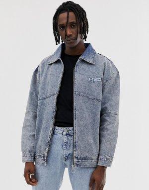 Джинсовая куртка с вышитым логотипом на спине Highland-Синий K-Swiss