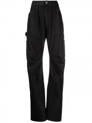 Зауженные джинсы New Boyfriend The Attico. Цвет: черный