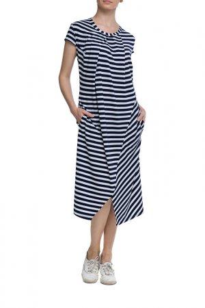 Платье Adzhedo. Цвет: сине-белая полоса
